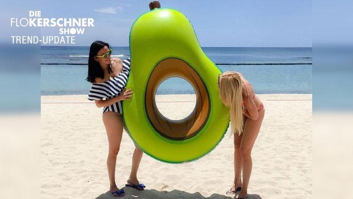 Avocado Luft Matratze - perfekt für den Pool oder Strand