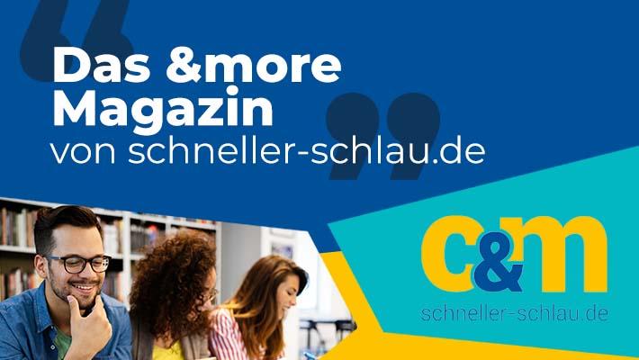 das &more Magazin von schneller-schlau.de